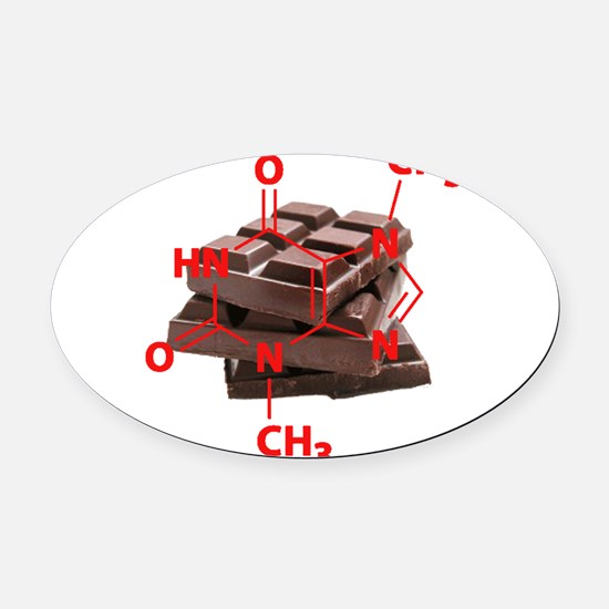 Chocolate Chemistry Oval Car Magnet