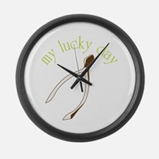 My Luck Day Large Wall Clock