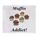 Muffin Addict Throw Blanket