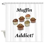 Muffin Addict Shower Curtain