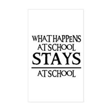STAYS AT SCHOOL Rectangle Decal