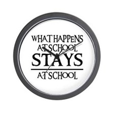 STAYS AT SCHOOL Wall Clock