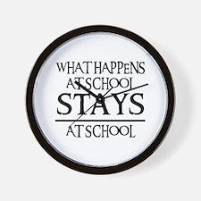 STAYS AT SCHOOL Wall Clock