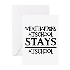 STAYS AT SCHOOL Greeting Cards (Pk of 10)