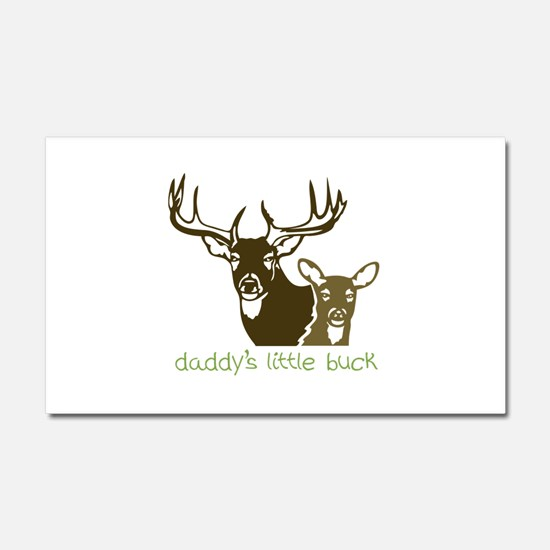 Daddys Little Buck Car Magnet 20 x 12
