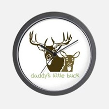 Daddys Little Buck Wall Clock