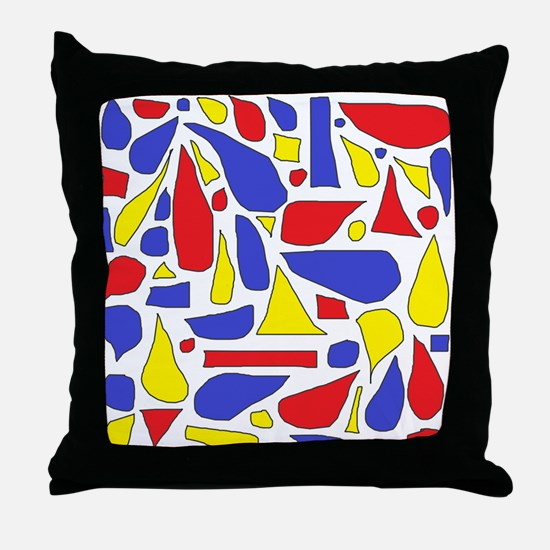 Silly Primaries Throw Pillow