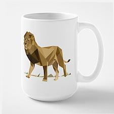 vector graphic polygon art lion Mugs