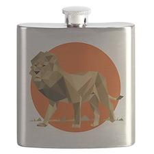 vector graphic polygon art lion Flask