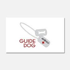 Guide Dog Car Magnet 20 x 12