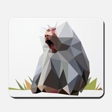 vector graphic polygon art baboon Mousepad