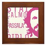 Stai calmo e passala a Pirlo Framed Tile