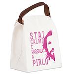 Stai calmo e passala a Pirlo Canvas Lunch Bag