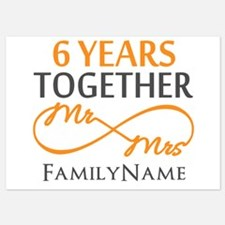 6th anniversary 5x7 Flat Cards