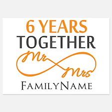 6th anniversary Invitations