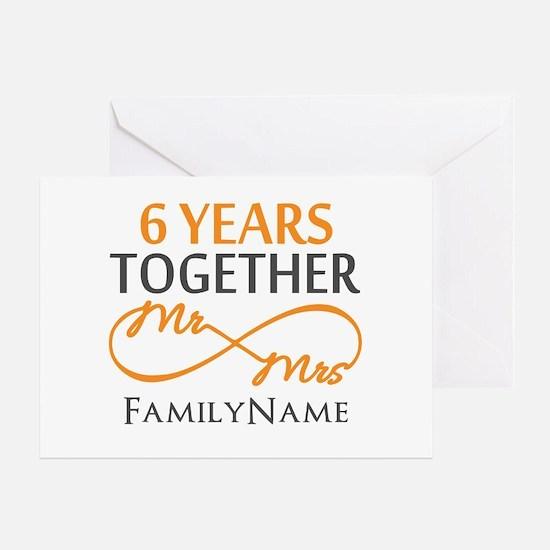 6th anniversary Greeting Card
