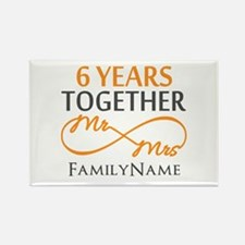 6th anniversary Rectangle Magnet
