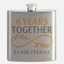 6th anniversary Flask