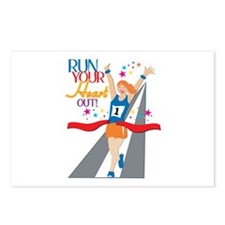 Run your Heart Out! Postcards (Package of 8)