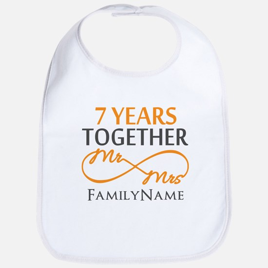 7th anniversary Bib