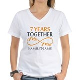 7 year anniversary Womens V-Neck T-shirts