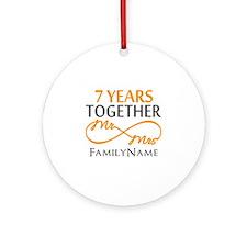 7th anniversary Ornament (Round)