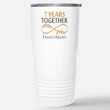 7th anniversary Stainless Steel Travel Mug