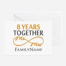 8th anniversary Greeting Card