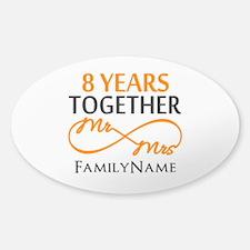 8th anniversary Sticker (Oval 10 pk)