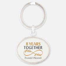 8th anniversary Oval Keychain