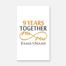 9th anniversary Rectangle Car Magnet