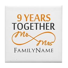 9th anniversary Tile Coaster