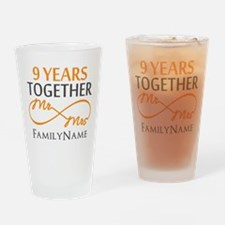 9th anniversary Drinking Glass