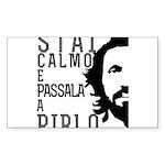 Stai calmo e passala a Pirlo Sticker