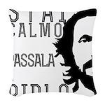 Stai calmo e passala a Pirlo Woven Throw Pillow