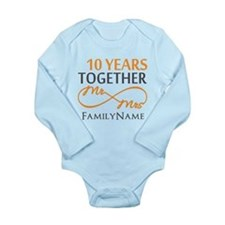 10th anniversary Long Sleeve Infant Bodysuit