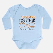 10th anniversary Long Sleeve Infant Bodysuit