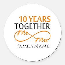 10th anniversary Round Car Magnet