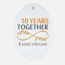 10th anniversary Ornament (Oval)