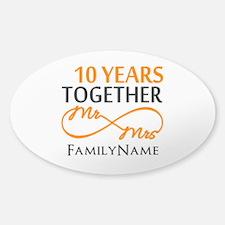 10th anniversary Sticker (Oval 10 pk)
