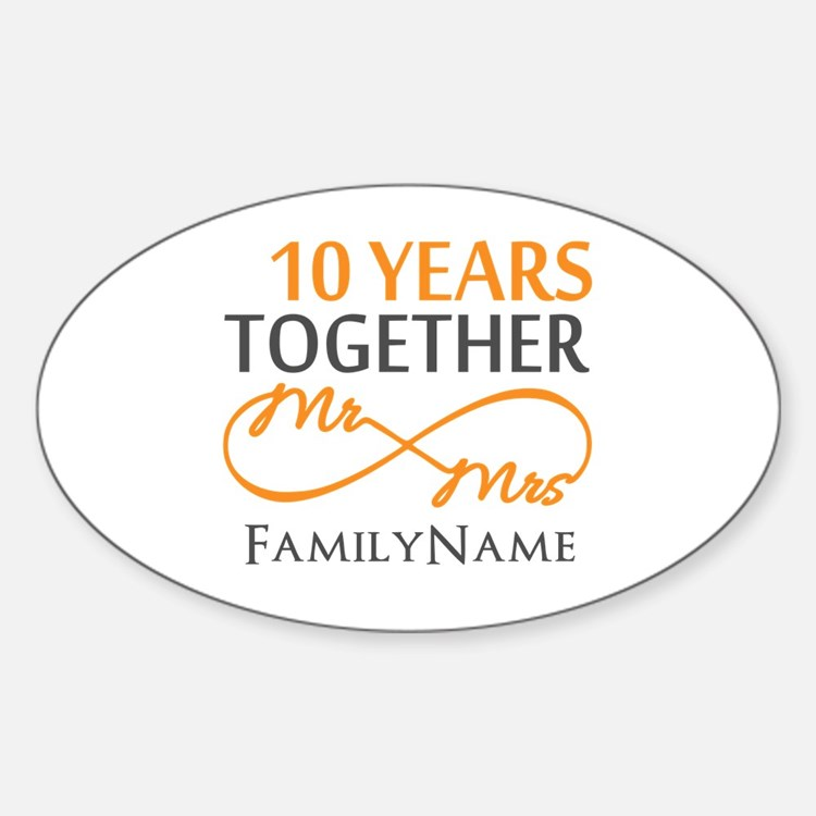 10th anniversary Sticker (Oval)