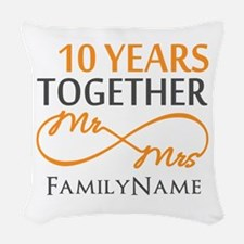 10th anniversary Woven Throw Pillow