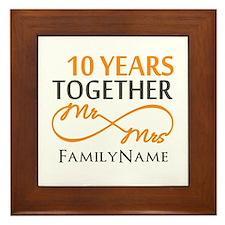 10th anniversary Framed Tile