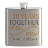 10 year anniversary him Flask Bottles