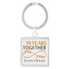 10th anniversary Square Keychain