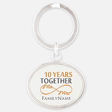 10th anniversary Oval Keychain