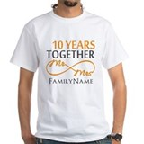 10th anniversary Mens White T-shirts