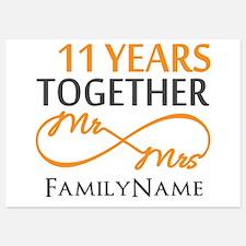 11th anniversary Invitations