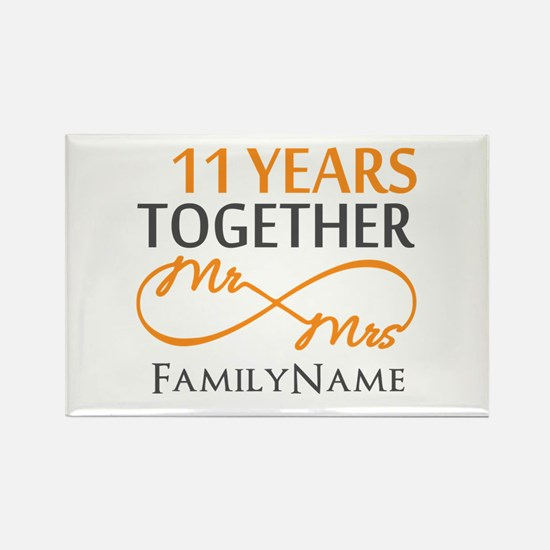 11th anniversary Rectangle Magnet