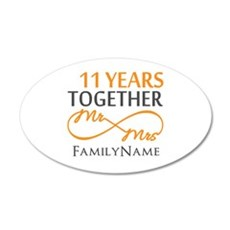 11th anniversary Wall Decal